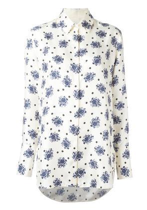 Victoria Victoria Beckham floral print shirt, Women's, Size: 8, White
