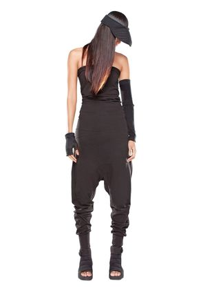 BAGGY COTTON JERSEY STRAPLESS JUMPSUIT