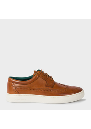Men's Tan Leather 'Rupert' Brogue Trainers