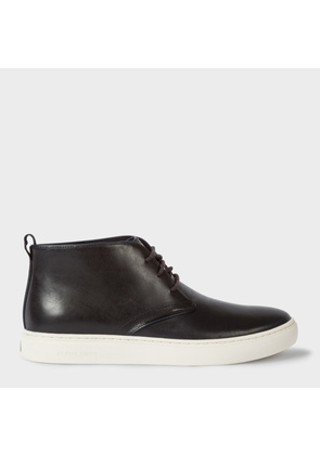 Men's Dark Navy Leather 'Fong' Chukka Boots