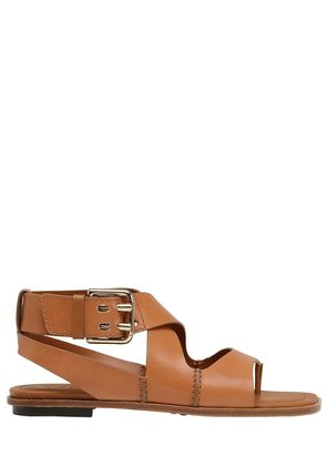 10MM BUCKLED LEATHER SANDALS