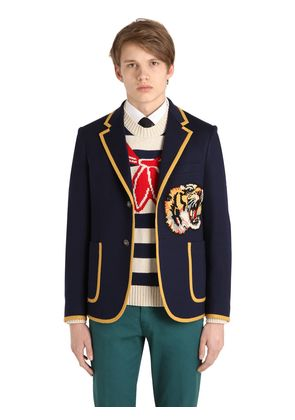 TIGER PATCH COTTON JERSEY JACKET