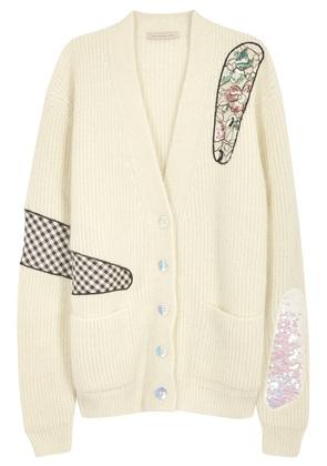 Canterbury appliquéd mohair blend cardigan