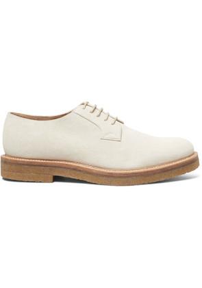 Dries Van Noten - Suede Derby Shoes - Ecru