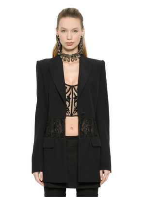 EMBROIDERED CORSET VISCOSE CREPE JACKET