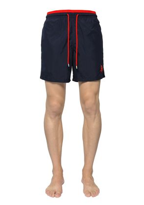 TWO TONE EMBROIDERED SWIM SHORTS