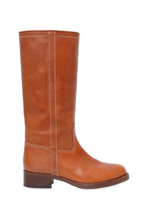 25MM LEATHER KNEE HIGH BOOTS