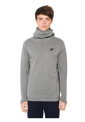 PERFORATED COTTON BLEND SWEATSHIRT