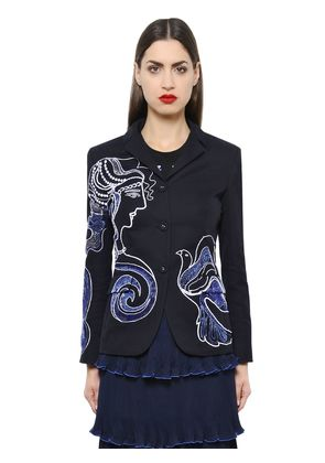 THERA EMBROIDERED COTTON DRILL JACKET