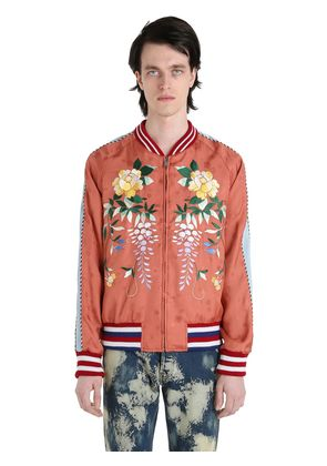 EMBROIDERED TECHNO BOMBER JACKET