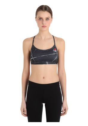 CROSSFIT PRINTED MICROFIBER SPORTS BRA