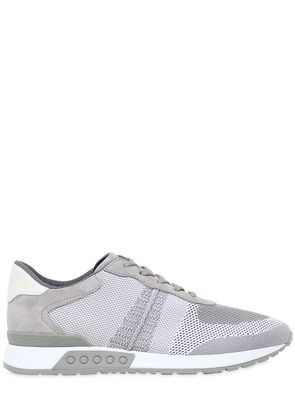 LEATHER & MESH RUNNING SNEAKERS