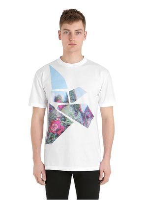 LIMIT.ED POPPY PRINTED COTTON T-SHIRT