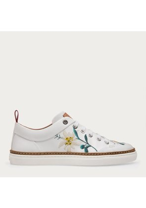 Bally Hellen White, Women s leather trainers in white