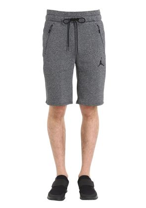 AIR JORDAN COTTON BLEND SWEAT SHORTS