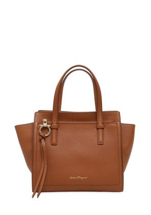SMALL AMY GRAINED LEATHER TOTE BAG