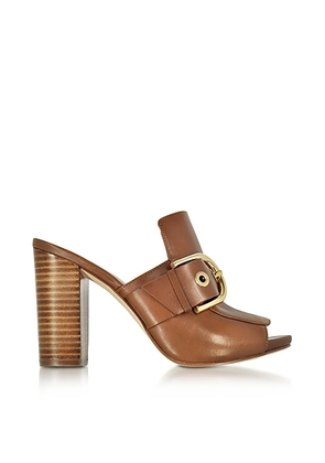 Michael Kors - Copper Luggage Nappa Leather Mules