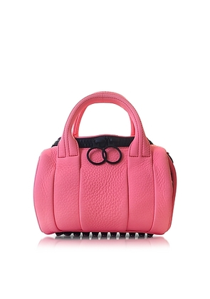 Alexander Wang - Fluo Coral Mini Rockie Leather Satchel