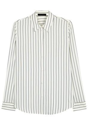 Peter ivory striped silk shirt