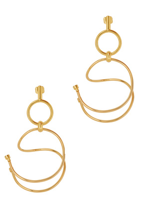 Gu One 24kt gold-plated earrings