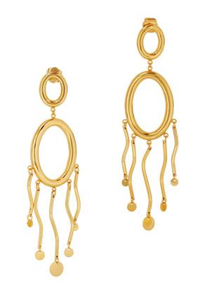 Agon II 24kt gold-plated drop earrings