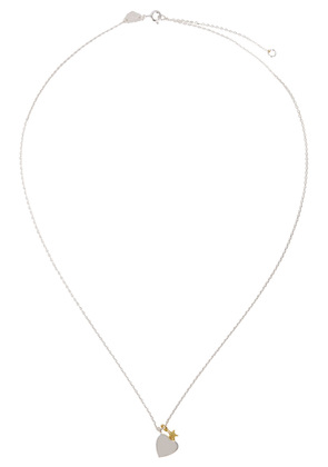 Treasure heart and star sterling silver necklace