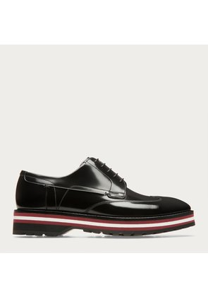 Bally Morely Black, Men s plain leather Derby in black