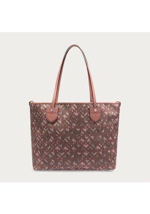 Bally Bernie Medium Pink, Women s coated cotton canvas tote bag in rosehaze