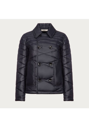 Bally Double Breasted Quilted Jacket Blue, Double Breasted Quilted Jacket