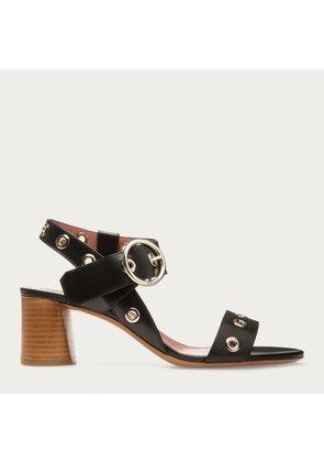 Bally Praria Black, Women s calf leather sandals in black
