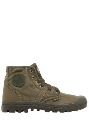 PALLABROUSE WASHED CANVAS MID BOOTS