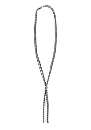 BRAIDED CHAIN STERLING SILVER NECKLACE