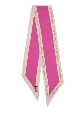 BLINDED FOR LOVE SILK TWILL SKINNY SCARF