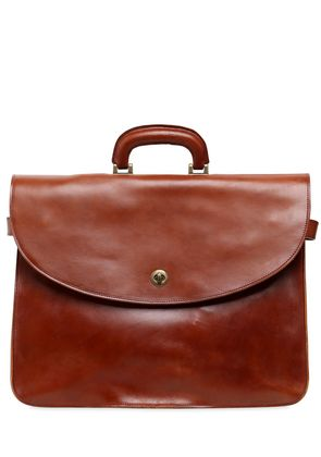 BRUSHED LEATHER BRIEFCASE