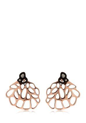 AODA ROSE GOLD PLATED & DIAMOND EARRINGS