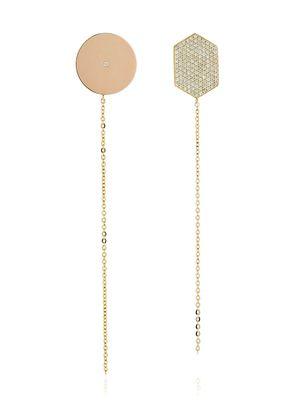 INFINITY DIAMOND SHAPE EARRINGS