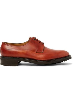 John Lobb - Croft Panelled-leather Derby Shoes - Brick