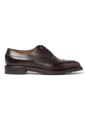 John Lobb - Weir Panelled Leather Oxford Shoes - Plum