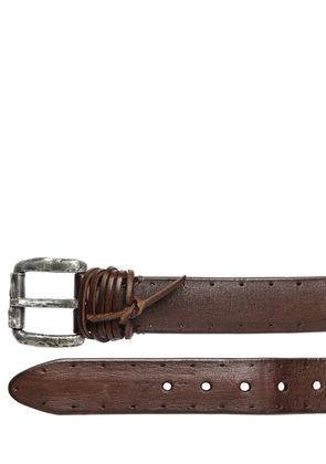 55MM PERFORATED LEATHER BELT