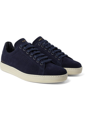 TOM FORD - Warwick Suede Sneakers - Midnight blue