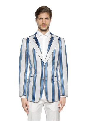 SHADED STRIPES TWILL JACKET