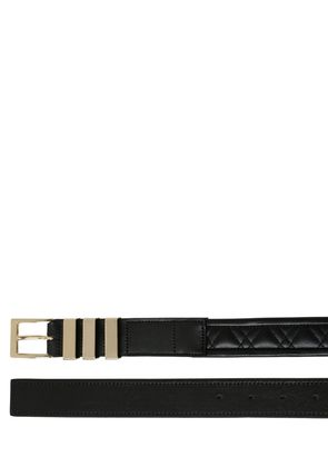 30MM QUILTED BRUSHED LEATHER BELT