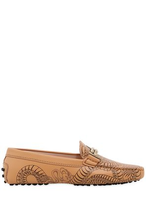 GOMMINO DOUBLE T TATTOO LEATHER LOAFERS