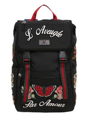 EMBROIDERED NYLON BACKPACK