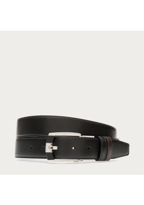 Bally Seth Black, Men's leather reversible belt in black