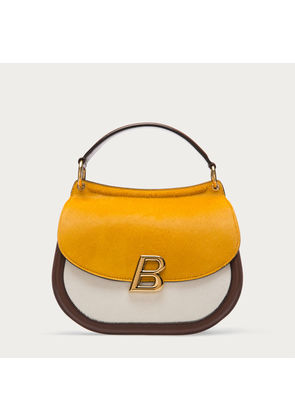 Bally Ballyum Large Brown, Women's calf leather and pony bag in coconut