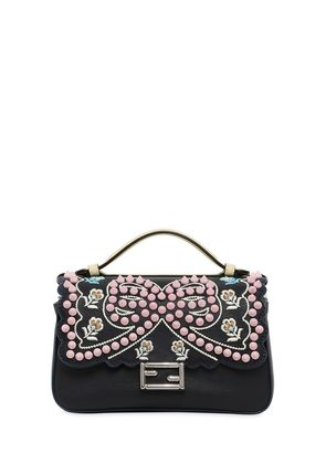 MICRO DOUBLE BAGUETTE STUDDED BOW BAG