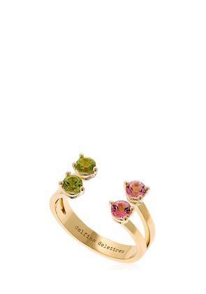 PINK & GREEN DOTS RING