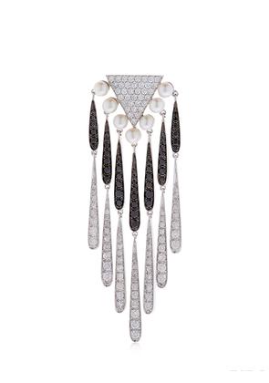 PEARL & DIAMONDS MONO EARRING
