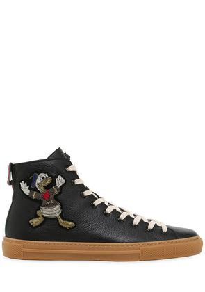 MAJOR EMBROIDERED LEATHER  SNEAKERS